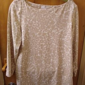 Charter club floral top size m